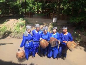 Giở chà bắt tôm - du lịch Bến Tre Tiền Giang