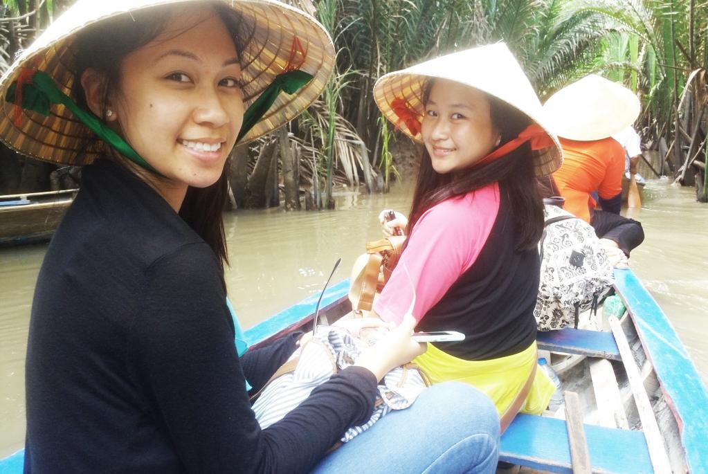 Đi xuồng chèo - Tour du lịch Cồn Thới Sơn