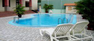 Hồ bơi Khách sạn Hàm Luông - Du lịch Bến Tre Tiền Giang