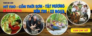 Tour du lịch Mỹ Tho cồn Thới Sơn Tát mương bắt cá ở Tiền Giang