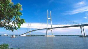 Cầu Mỹ Thuận nối liền 2 tỉnh Tiền Giang - Vĩnh Long