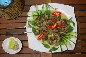 Ốc Xào Nước Cốt Dừa - Đặc sản Bến Tre