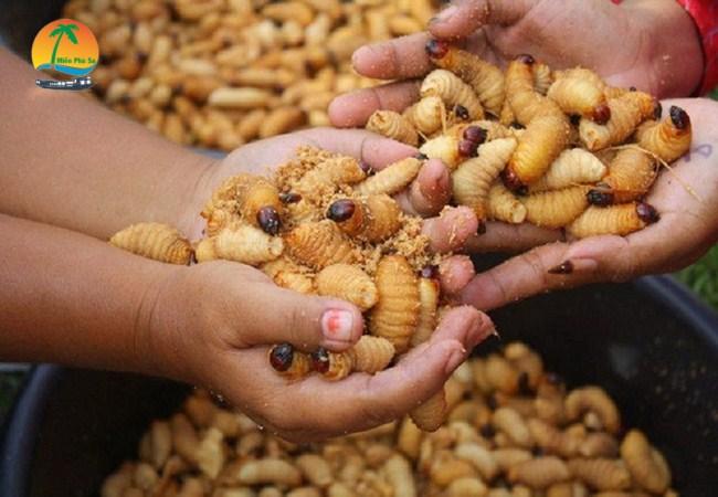Đuông dừa nướng - Đặc sản Bến Tre