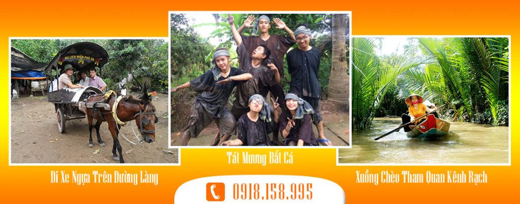 Tour Du lịch Tát mương bắt cá ở Thới Sơn Tiền Giang