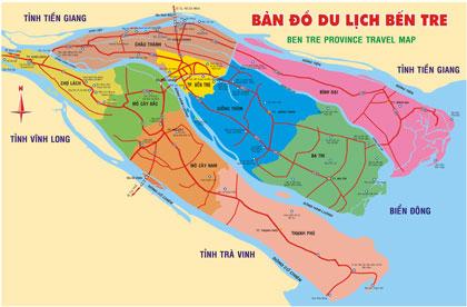 Bản đồ du lịch tỉnh Bến tre