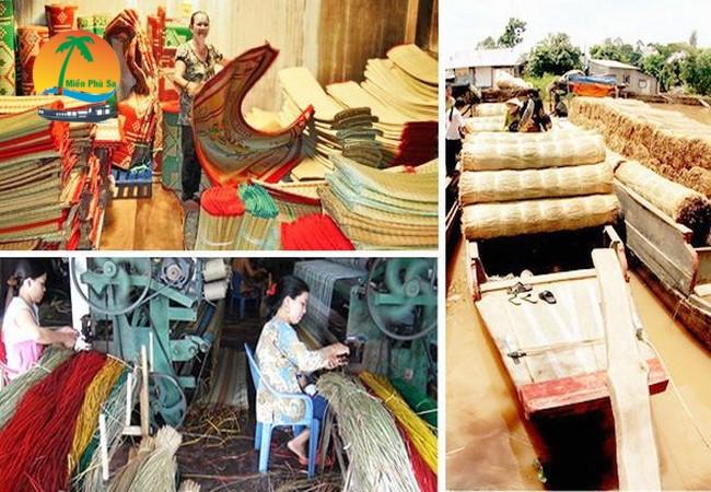 Làng nghề dệt chiếu Long Định - Du lịch Tiền Giang