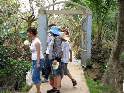 Nhà dân tại Cồn Quy - Du lịch Bến Tre
