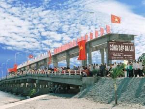 Cống đập Ba Lai - Bình Đại Bến Tre