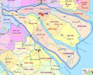 Bản đồ hành chính tỉnh Bến Tre