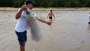 Bãi biển Thừa Đức huyện Bình Đại - Bến Tre