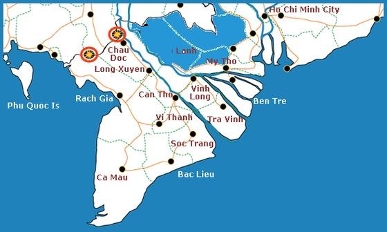 Bản đồ Vùng Đồng Tháp Mười