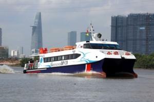 Tàu cao tốc tuyến Bến Tre - Vũng Tàu khai trương