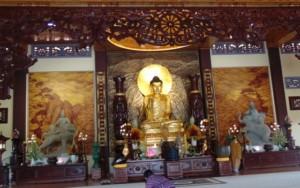Chánh điện Thiền viện Trúc Lâm Chánh Giác Tiền Giang