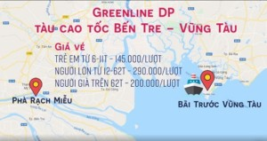 Lịch trình đường đi tàu cao tốc Bến Tre - Mỹ Tho - Vũng Tàu Greenline dp