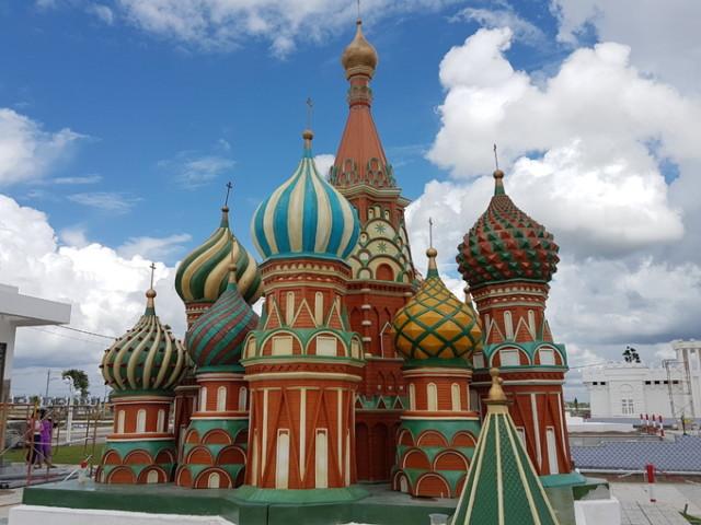 Tòa thánh Basil kiến trúc của thủ đô Moscow - Nga